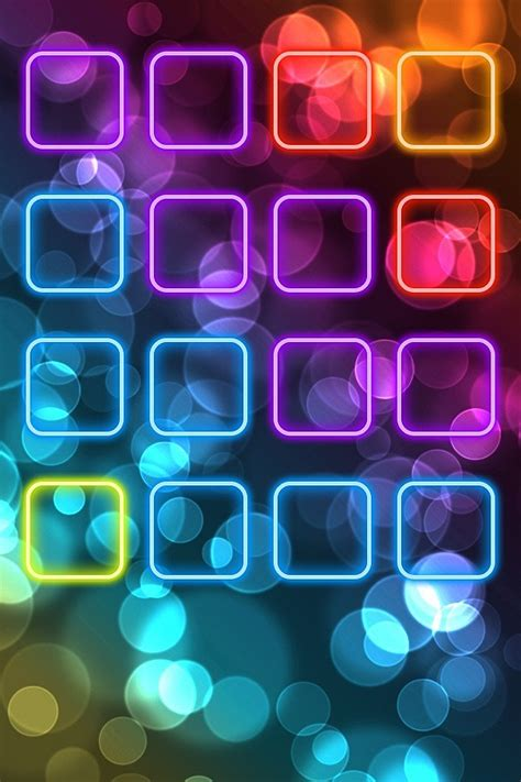 colorful icon shelf simply beautiful iphone wallpapers