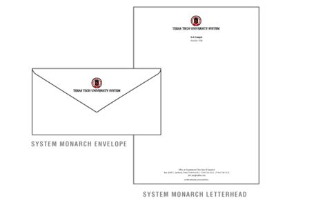 monarch envelope template paper system tech system