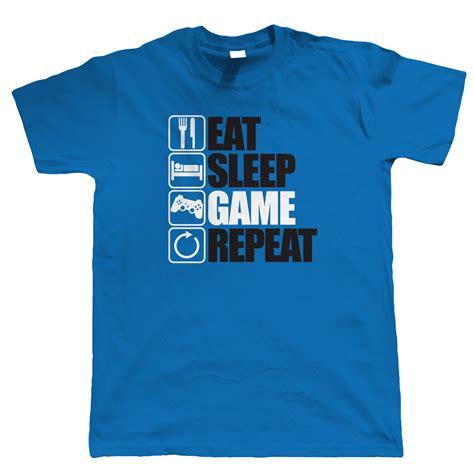 eat sleep repeat gaming t shirt pc gamer