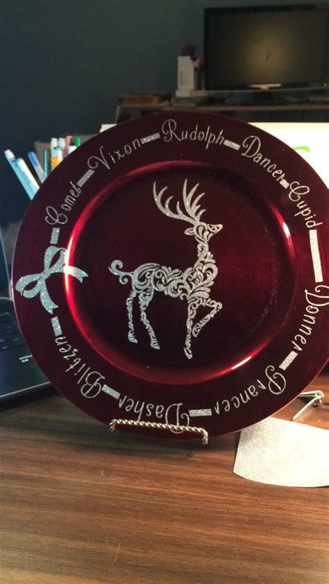ideas for christmas plate designs 580 best vinyl chargers plates images on dishes charger plates and dollar tree