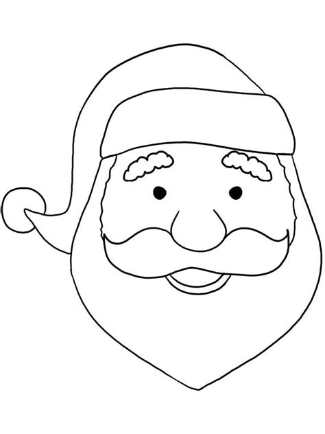 printable santa face template santa claus coloring pages best coloring pages free