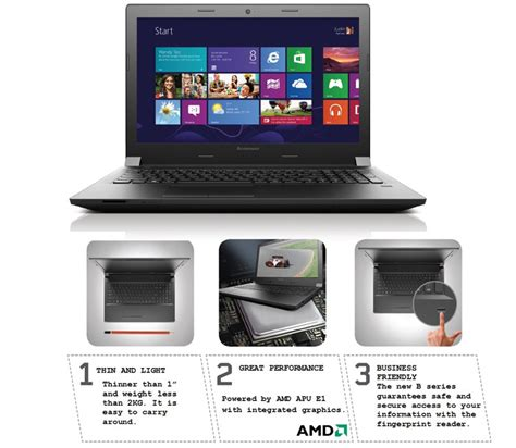 Laptop Lenovo B40 45 lenovo b40 45 59 436667 laptop amd apu e1 4gb ram 500gb hdd 35 56cm 14 dos 2gb