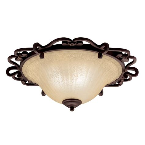 Bronze Flush Mount Ceiling Light Shop Kichler Lighting Wilton 20 25 In W Carre Bronze Ceiling Flush Mount Light At Lowes