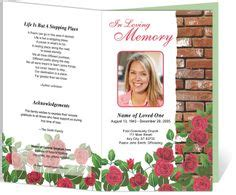 1000 Images About Creative Memorials With Funeral Program Templates On Pinterest Program Memorial Bulletin Templates
