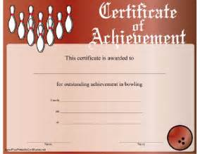 bowling certificate template display printable certificates and bowling on