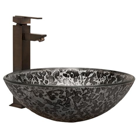 sink bathtub silver glass vessel sink bathroom