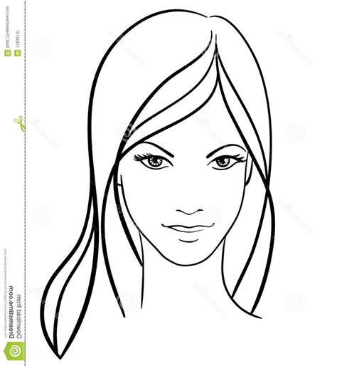 little girl face coloring page simple girl face drawing drawing art ideas