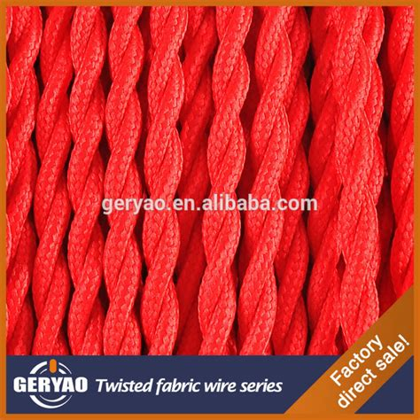 colour twisted colored extension cord plaited