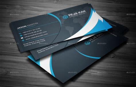 envato business card templates corporate business card by vejakakstudio graphicriver