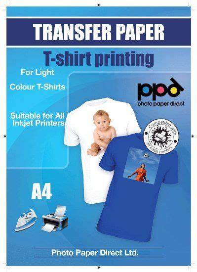 inkjet iron on transfer paper amazon a4 inkjet iron on transfers paper t shirt transfers