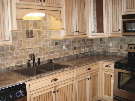 limestone backsplash kitchen white cabinet granite countertop pictures others beautiful