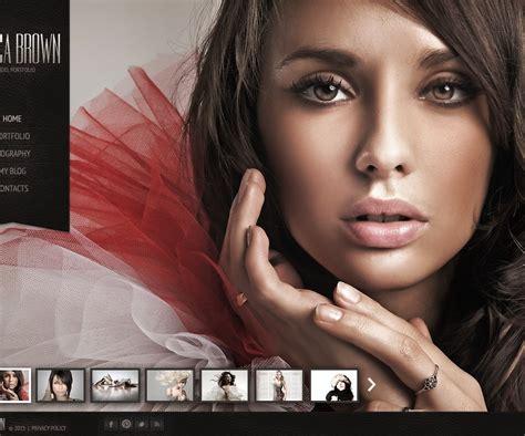 model portfolio website template 42542