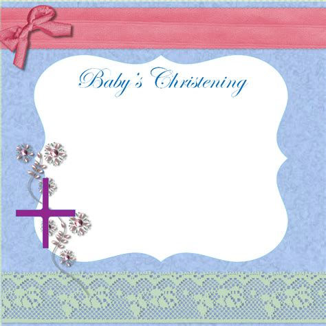 layout design for baptismal invitation free christening invitation cards
