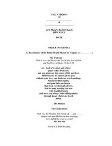 Wedding Order Of Service Template by Best Photos Of Order Of Service Template Funeral
