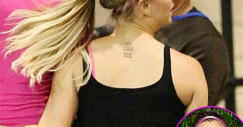 kaley cuoco back tattoo kaley cuoco gets of sweeting wedding date