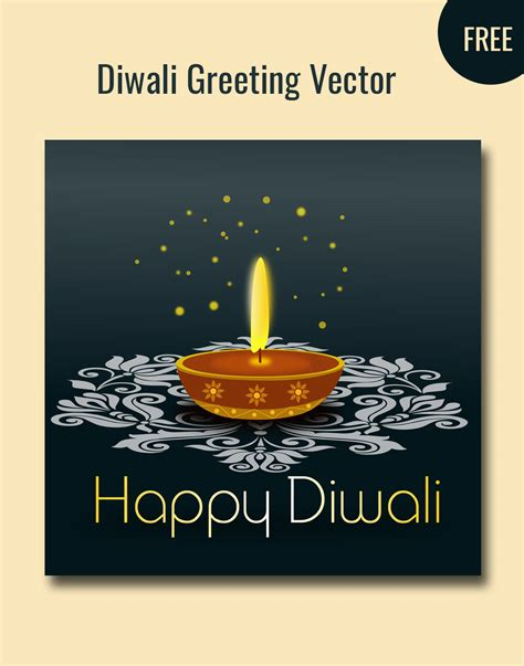 free diwali cards templates diwali greetings vector
