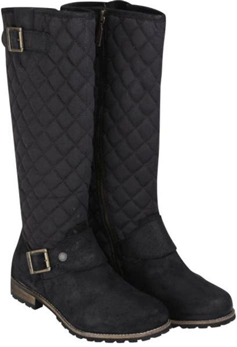 barbour womens hoxton high leg quilted biker boots in