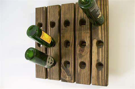 Handmade Wooden Wine Racks - riddling rack handmade wood wall hanging wine rack ebay