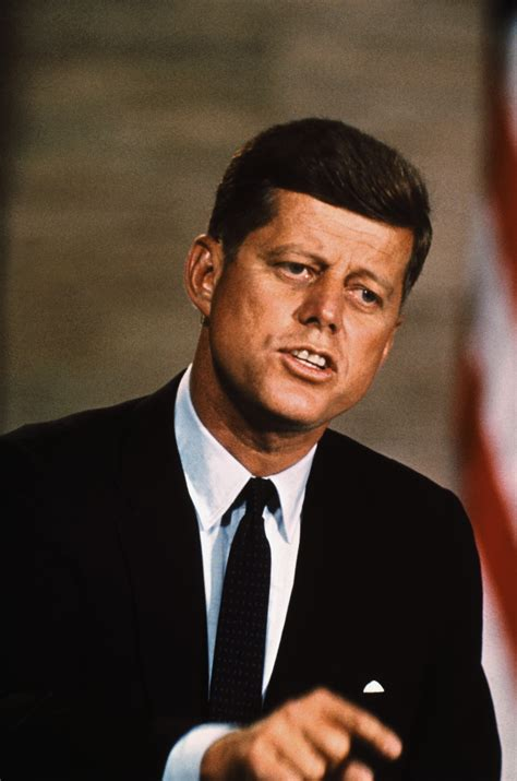 john kennedy president kennedy gives a speech before a large crowd at