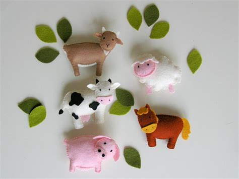 new year make a goat mobile farm baby mobile goat sheep felt by arrienne craftsy