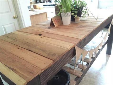 diy sturdy pallet kitchen island table 101 pallets