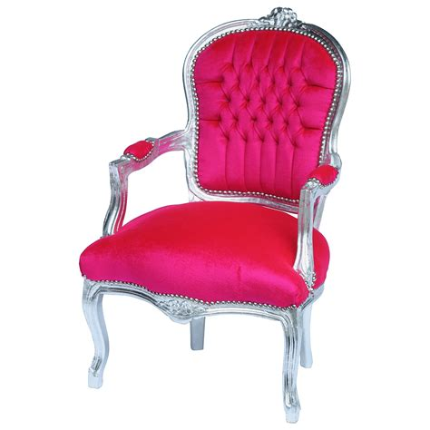 salon chair baroque style in pink luxury shop
