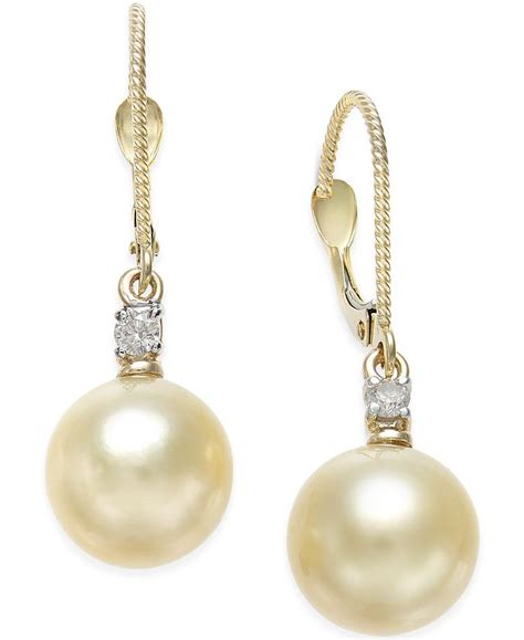macy s cultured golden south sea pearl 9mm and