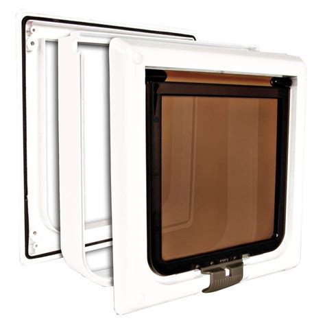 Cat Doors Home Depot ideal pet 7 in x 9 in small plastic electronic cat flap