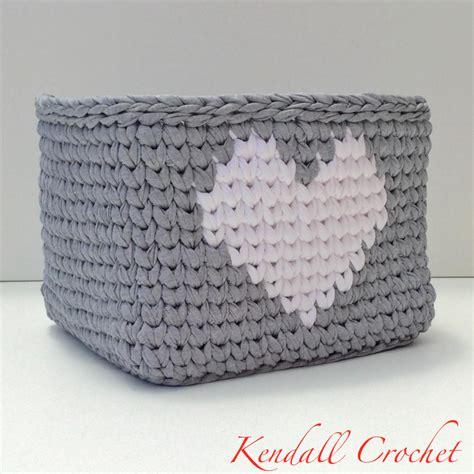 crochet basket pattern with t shirt yarn square tapestry crochet basket made with t shirt yarn no