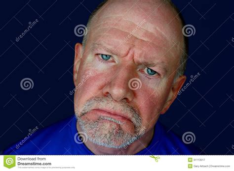 ruddy complexion pictures sad senior man with blue eyes royalty free stock