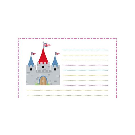 castle writing paper free downloadable magical writing paper