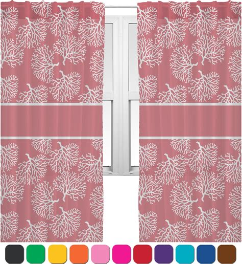 Sheer Coral Curtains Coral Sheer Curtains 60 Quot X84 Quot Personalized Youcustomizeit
