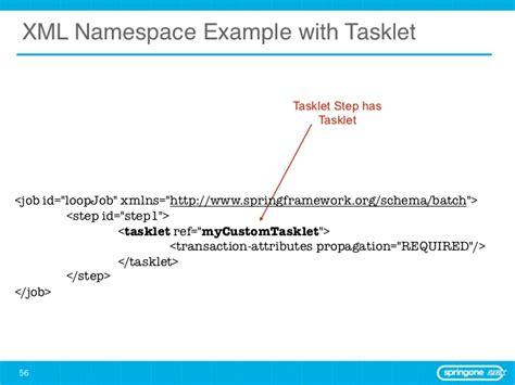 tutorial xml namespace spring batch behind the scenes