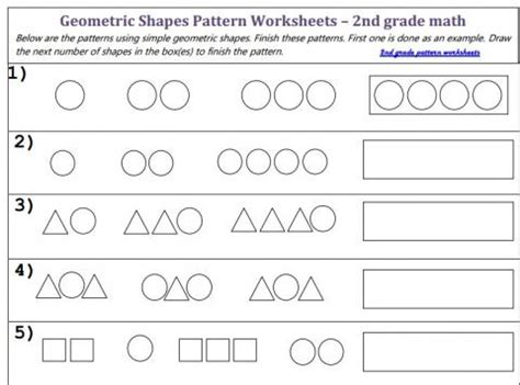 geometric pattern worksheets geometric patterns worksheet worksheets releaseboard