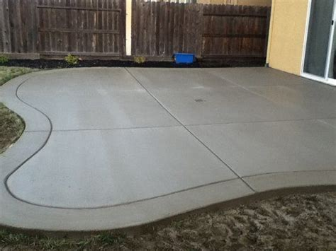 poured concrete patio poured concrete patio designs curved back yard patio