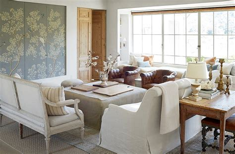 Farm Living Room by Inside The Home Of And Steve Giannetti Patina Farm