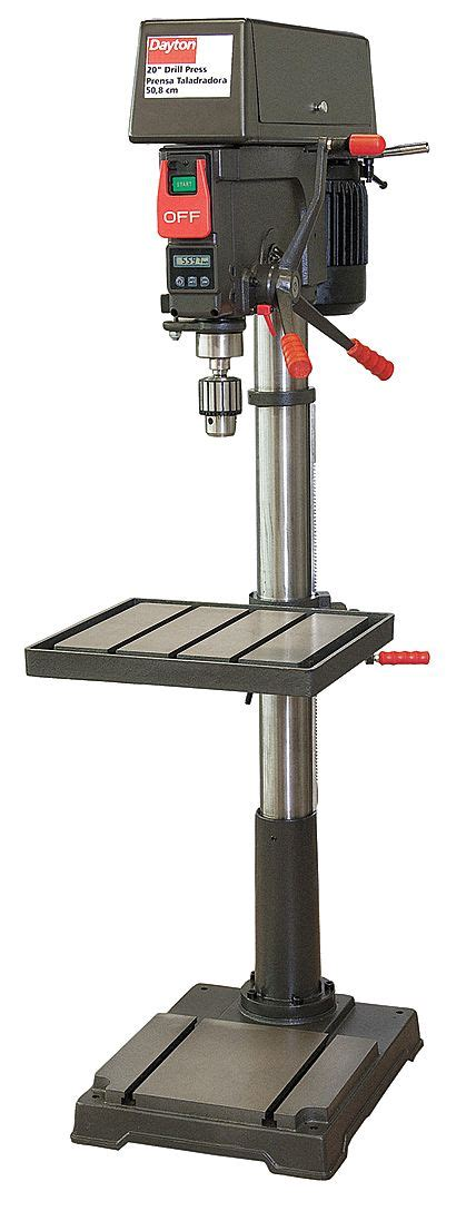 drill press swing dayton 1 1 2 motor hp floor drill press belt drive type