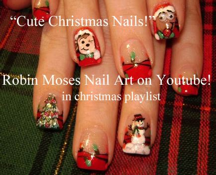 christmas robin nails robin moses nail easy lights nail design tutorial quot lights quot quot easy