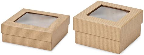 gift box with window lid kraft gift boxes recycled kraft boxes wholesale kraft