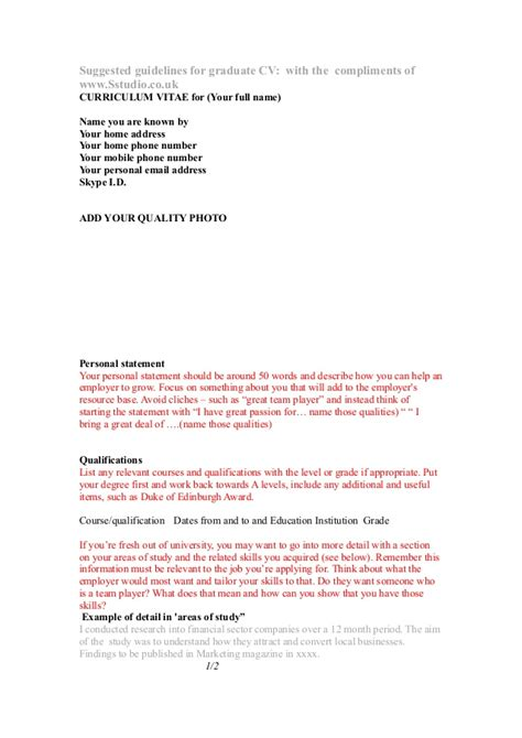 cv template free to print and use
