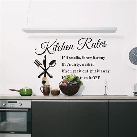 kitchen quotes wall stickers diy removable vinyl quote wall sticker decal home