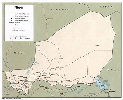 africa map niger niger maps perry casta 241 eda map collection ut library