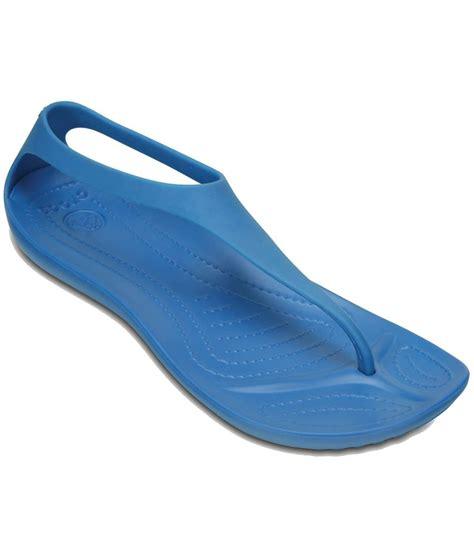 Crocs Flat Blue crocs blue flat slip on sandal standard fit price in