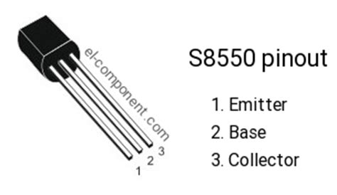 transistor s8550 equivalent s8550 p n p transistor complementary npn replacement pinout pin configuration substitute