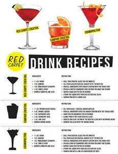 Easy Cocktail Party Food - red carpet drink recipes red carpet tips