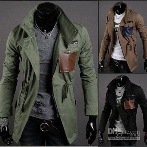 Sweater Pria Model New Casual Green Army Brown Shoulder Patch 447 army green sleeve pocket zip up luxury dress mens