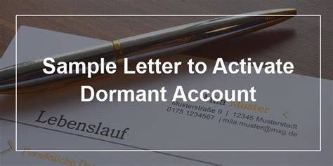 Credit Card Activation Letter Format Sle Letter To Activate Dormant Account