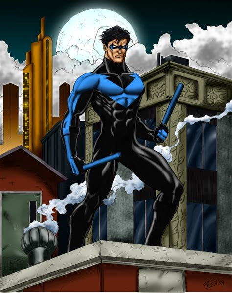 Desk Dealer Nightwing In Buddy Prince S Commissions Amp Pin Ups Comic