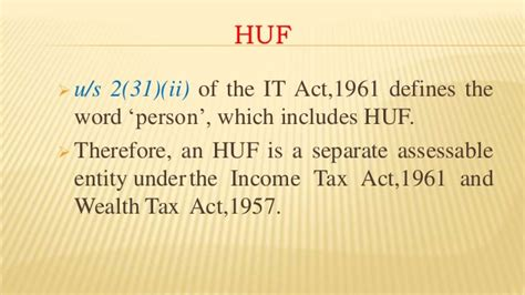 section 40 income tax act copy of tax planning through huf