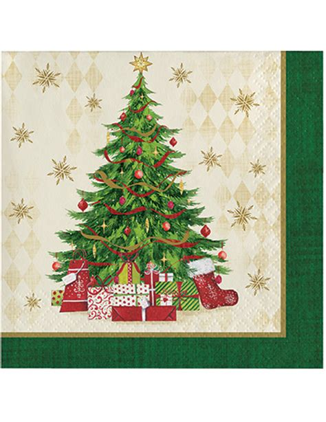 16 christmas tree napkins decorations and fancy dress
